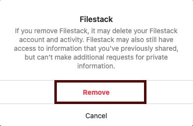 Remove permission- Instagram